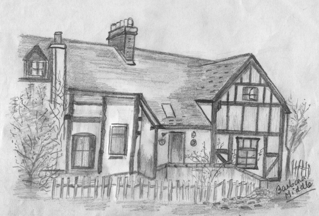 Drawing Ivy Cottage By Barbara Middle Dawley Heritage